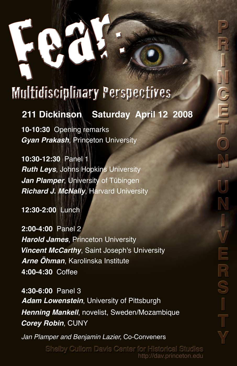 Fear: Multidisciplinary Perspectives poster