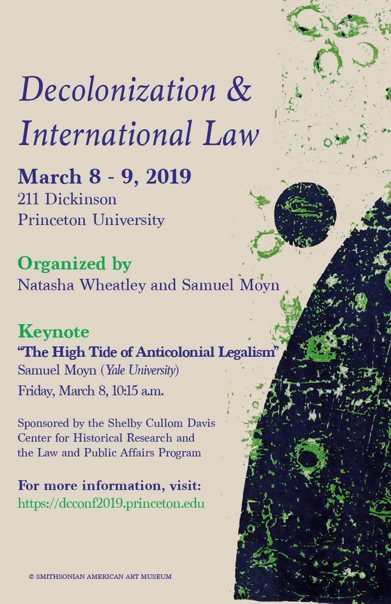 Decolonization & International Law conference poster