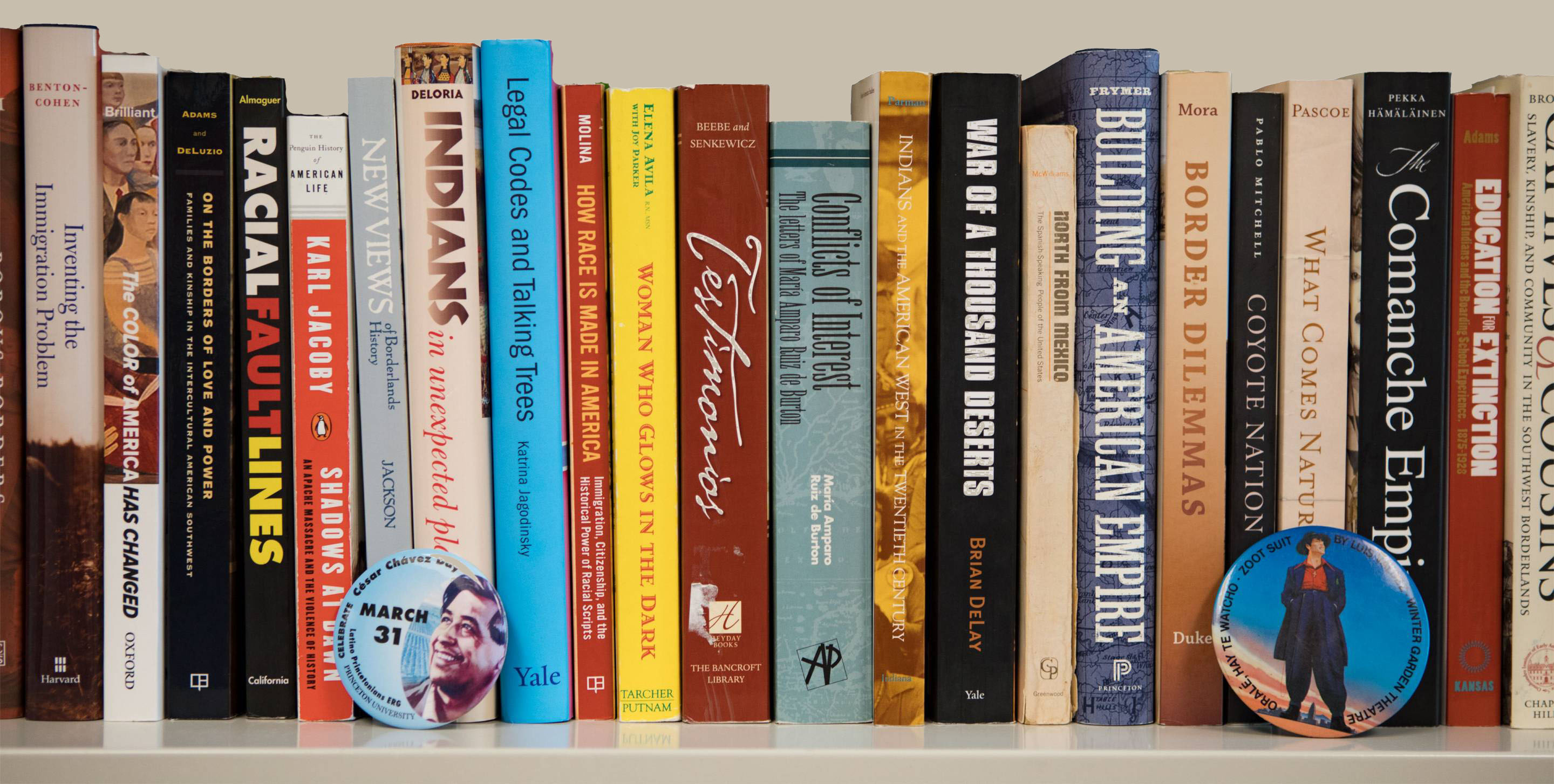 Rosina Lozano's bookshelf; Photo by Danielle Alio