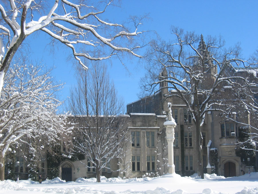 Dickinson Hall snow