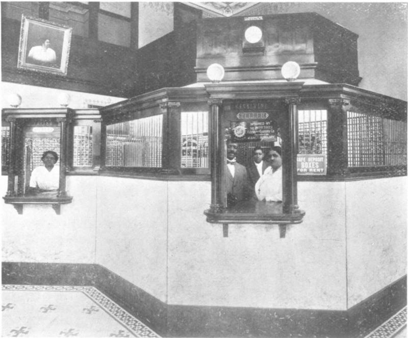 An interior view of the bank. National Park Service.