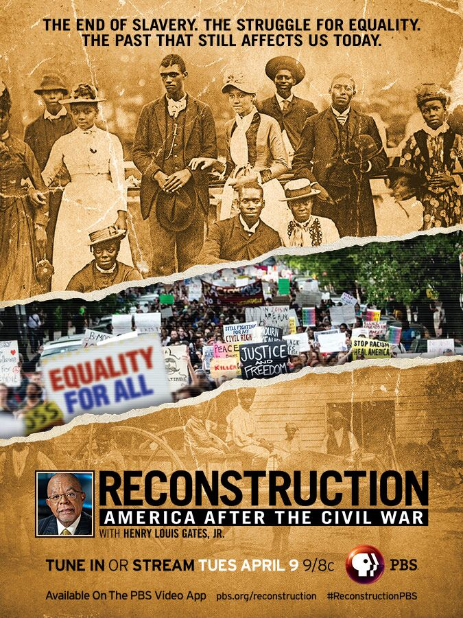 Flyer for Reconstruction PBS Documentary Series