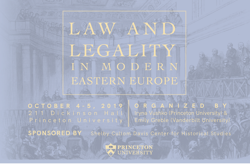 Law & Legality in Modern Eastern Europe