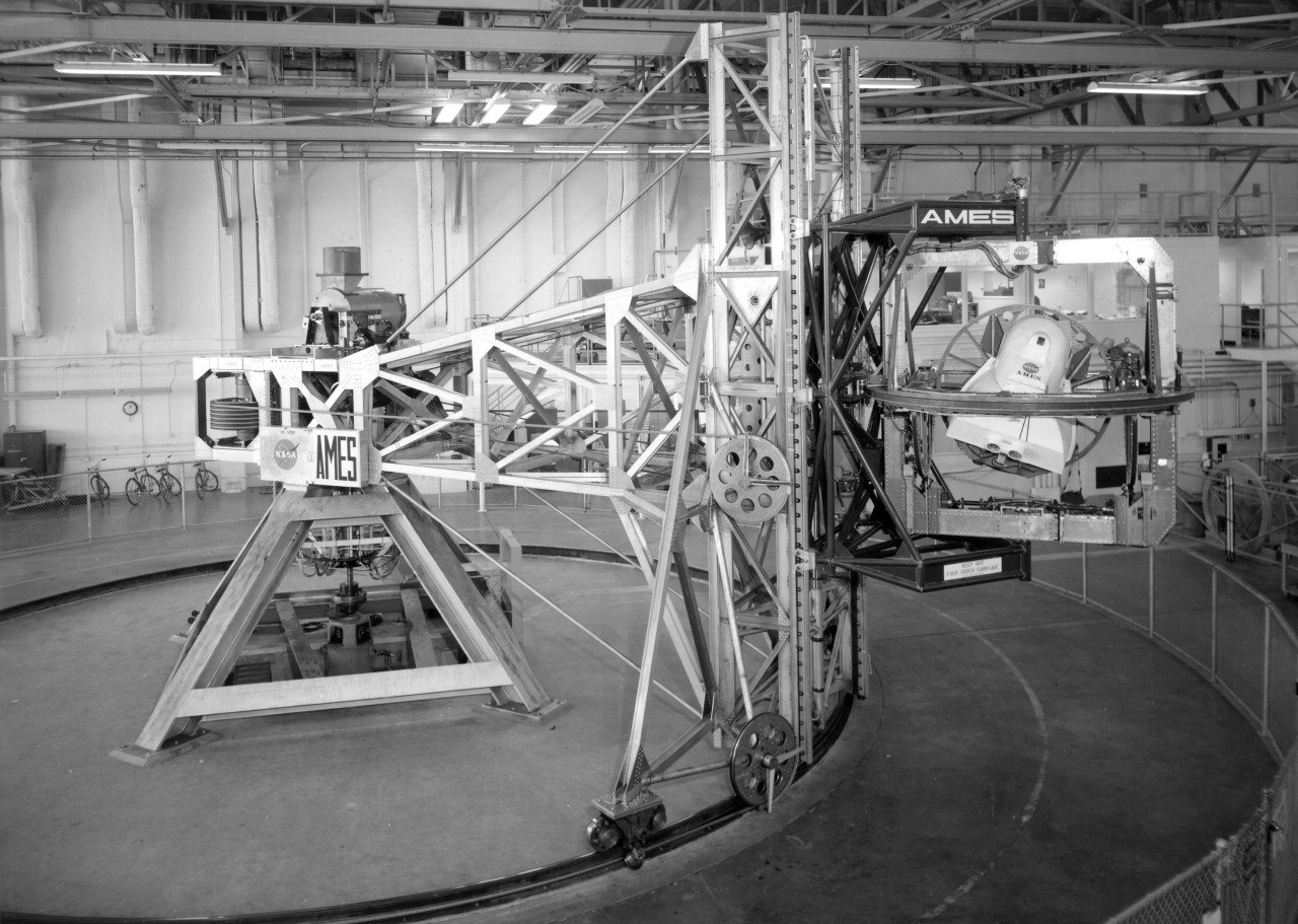 The NASA Ames 5 degrees-of-freedom motion simulator.