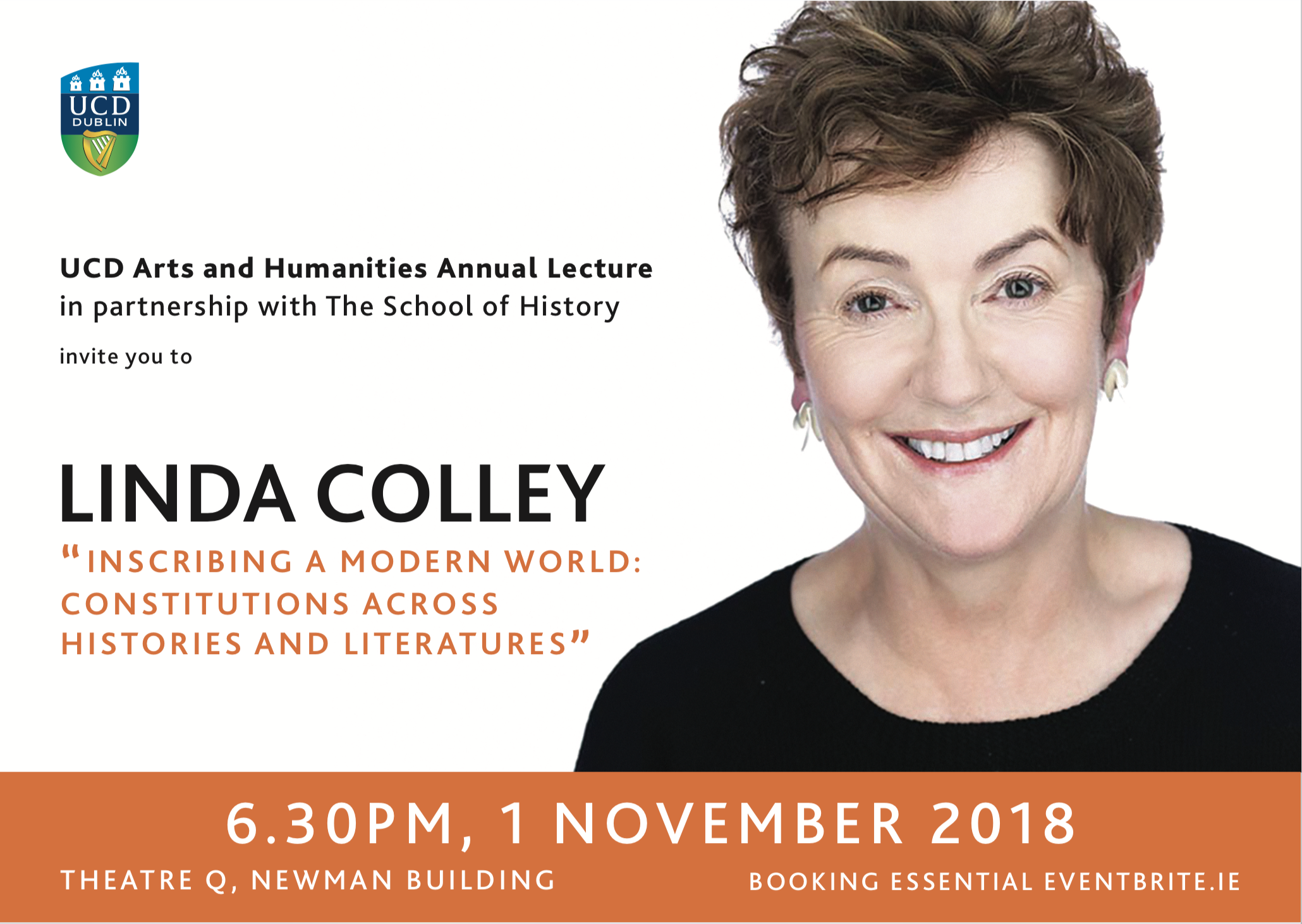 """Linda Colley: """"Inscribing a Modern World: Constitutions Across Histories and Literatures"""" poster"""