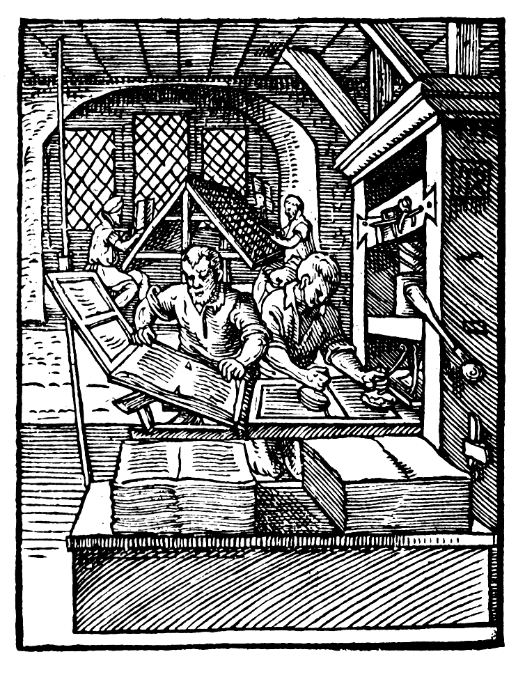 Printer in 1563 CE