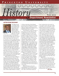 Newsletter 2012, Princeton History Department