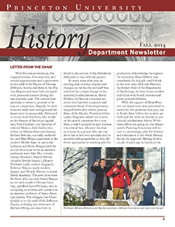 Newsletter 2014, Princeton History Department
