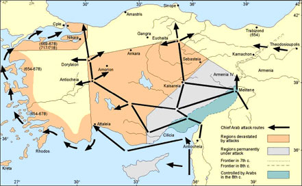 Anatolia and the Arab attacks in the 7th-8th centuries