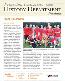 Cover of Fall 2009 newsletter