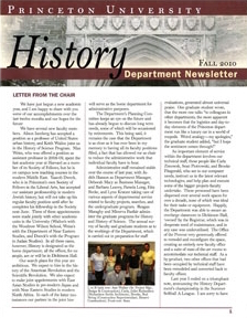 Newsletter 2010, Princeton History Department