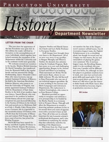 Newsletter 2011, Princeton History Department