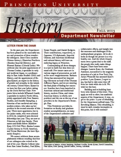 Newsletter 2013, Princeton History Department