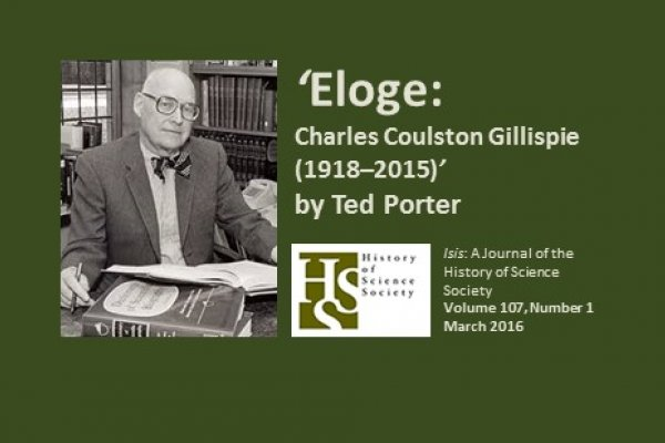 Remembering Charles Coulston Gillispie (1918–2015)