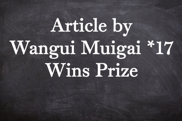 Article by Wangui Muigai *17 Wins Prize