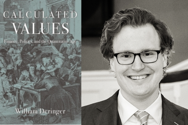 Will Deringer with his book, Calculated Values