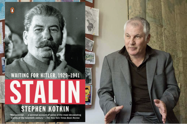 Stephen Kotkin (Photo: Denise Applewhite, Office of Communications) and his book Waiting for Hitler (Penguin Press)