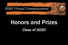 Honors and Prizes 2020