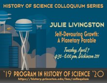 History of Science Colloquium: Julie Livingston