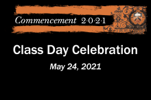 Commencement 2021 History Department Class Day