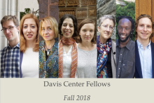 Davis Center Fellows and Postdocs, Fall 2018