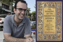 Jack Tannous with his book, The Making of the Medieval Middle East