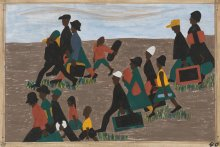Panel 40, Jacob Lawrence. The Migration Series. 1940-41.