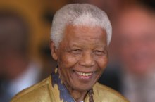 Nelson Mandela in Johannesburg, Gauteng, on 13 May 2008