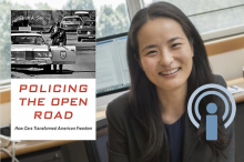 Sarah Seo with her book Policing the Open Road